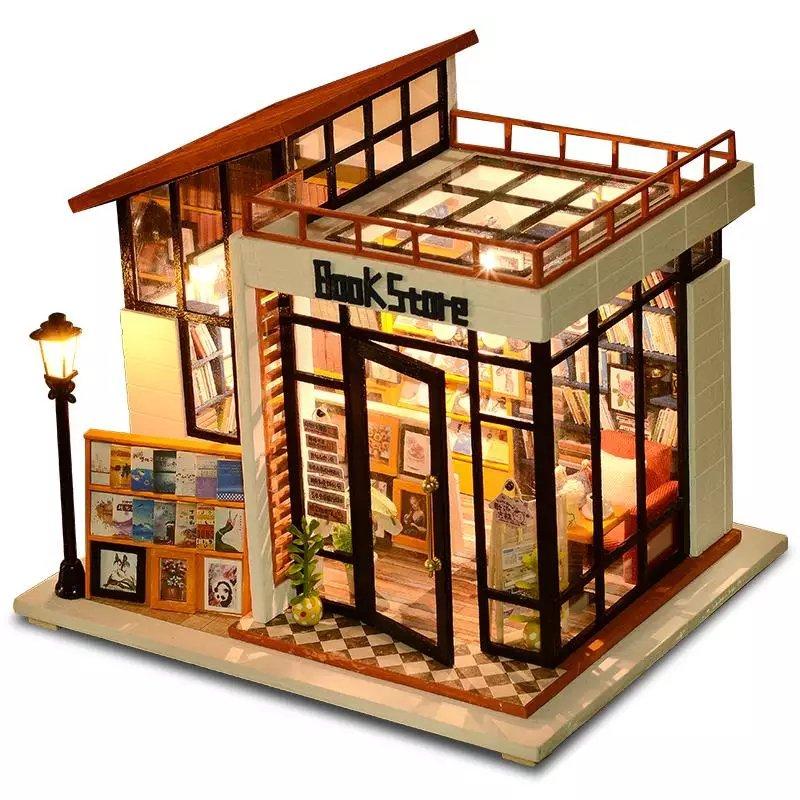 Bookstore DIY Miniature Dollhouse LED Light