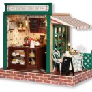 Star Cafe Wooden DIY Miniature Dollhouse with LED Light