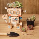 Robot Wooden Flower Pot DIY 3D Puzzle Model