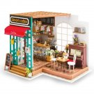Simon's Coffee Shop DIY Miniature Dollhouse with LED Light