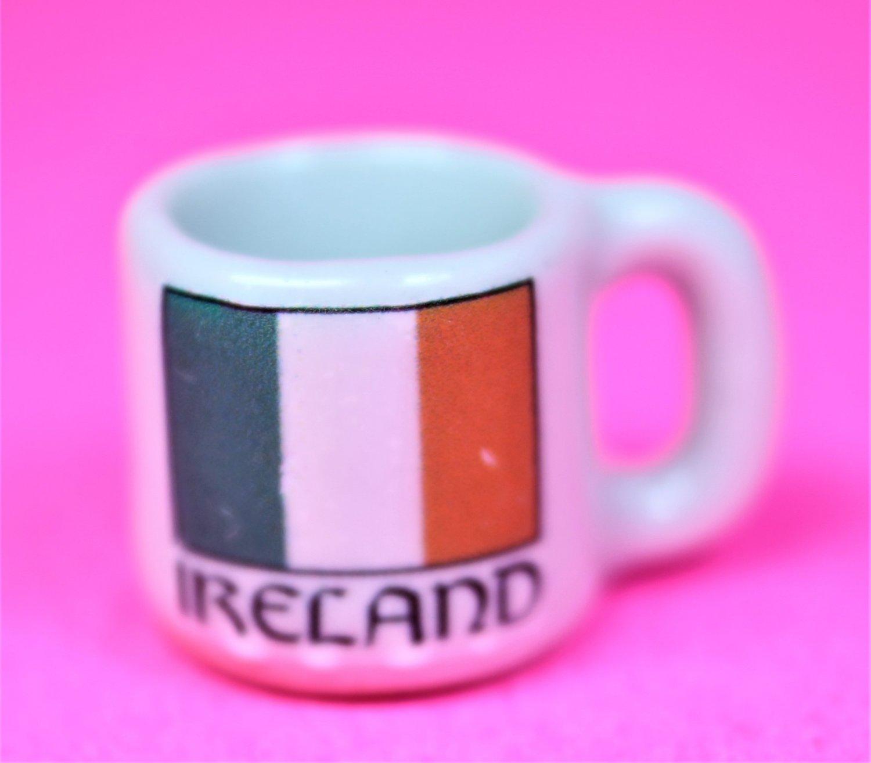 Dollhouse size replica of souvenir Irish coffee mug