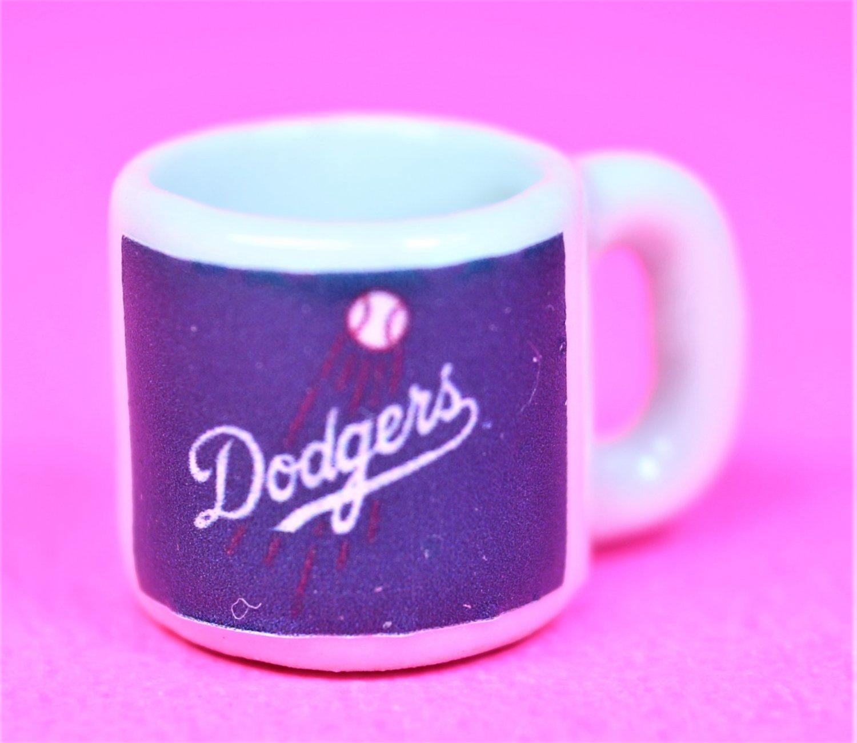 "Dollhouse miniature size 1/12"" scale replica sports Dodgers coffee mug"