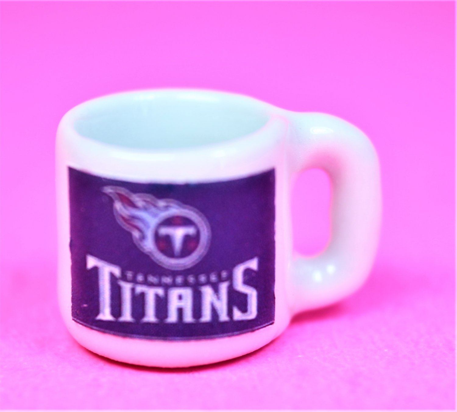 "Dollhouse miniature size,  1/12"" scale,  replica sports Titans coffee mug"