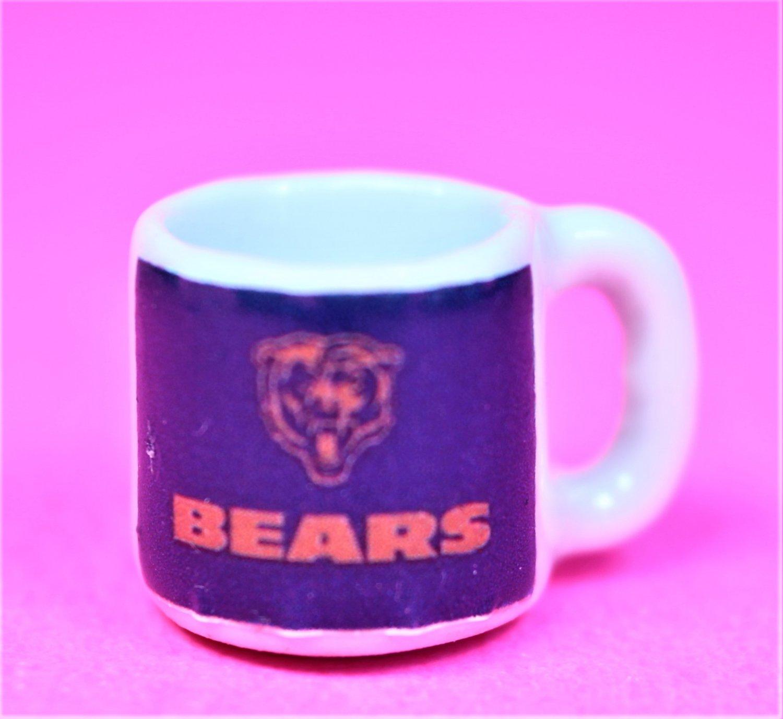 """Dollhouse miniature size 1/12"""" scale replica sports Bears coffee mug"""