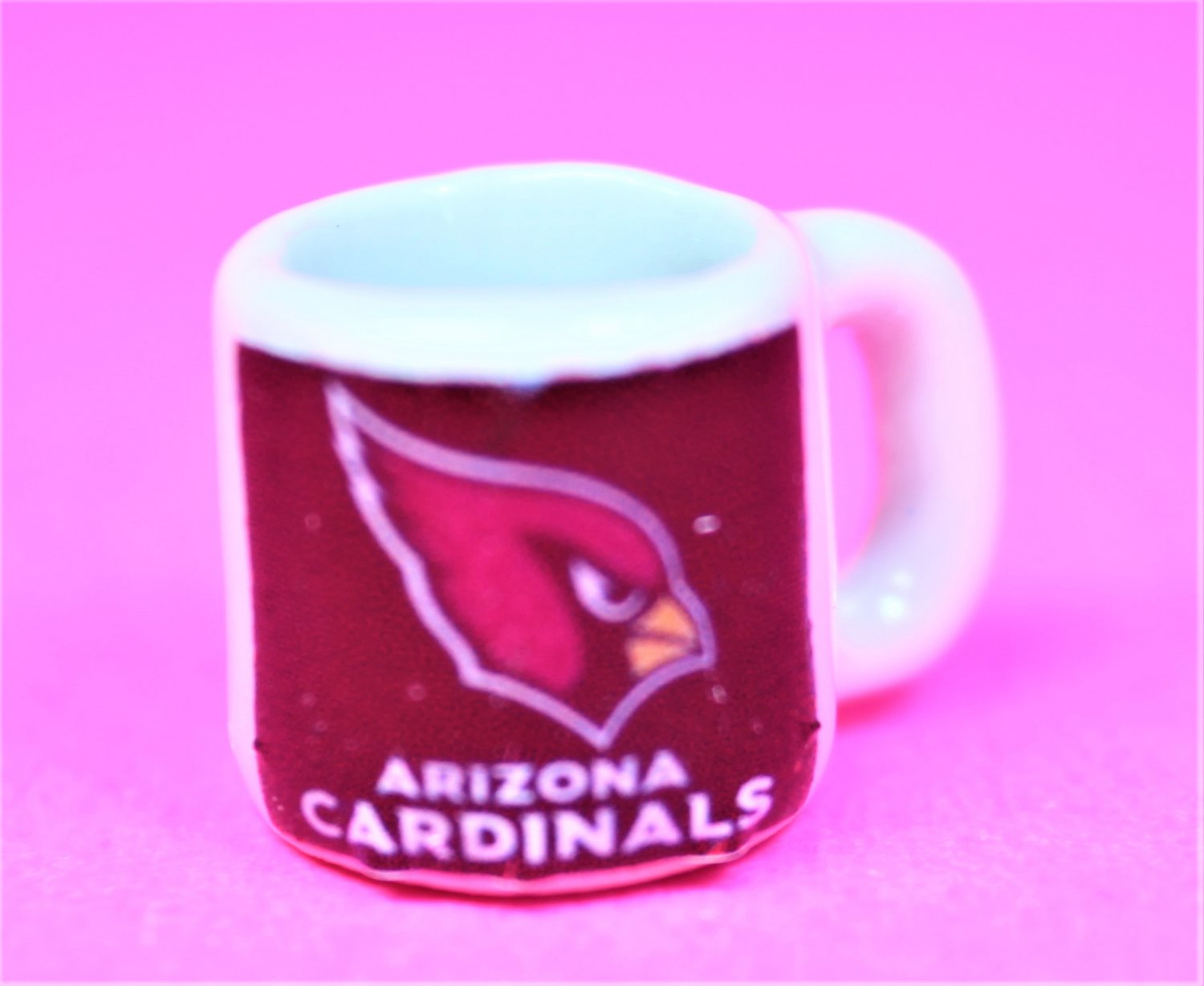 "Dollhouse miniature size 1/12"" scale replica sports Cardinals coffee mug"