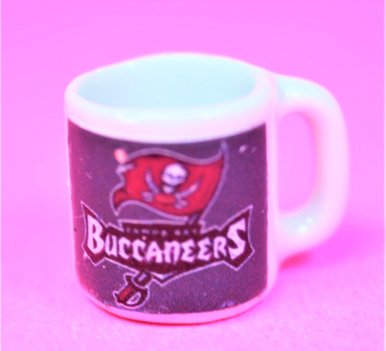 "Dollhouse miniature size 1/12"" scale replica sports Buccaneers coffee mug"