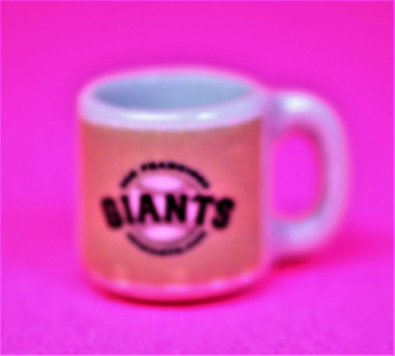 "Dollhouse miniature size 1/12"" scale replica sports Giants coffee mug"