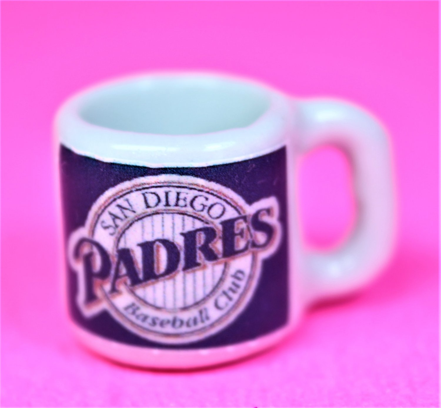"Dollhouse miniature size 1/12"" scale replica sports Padres coffee mug"