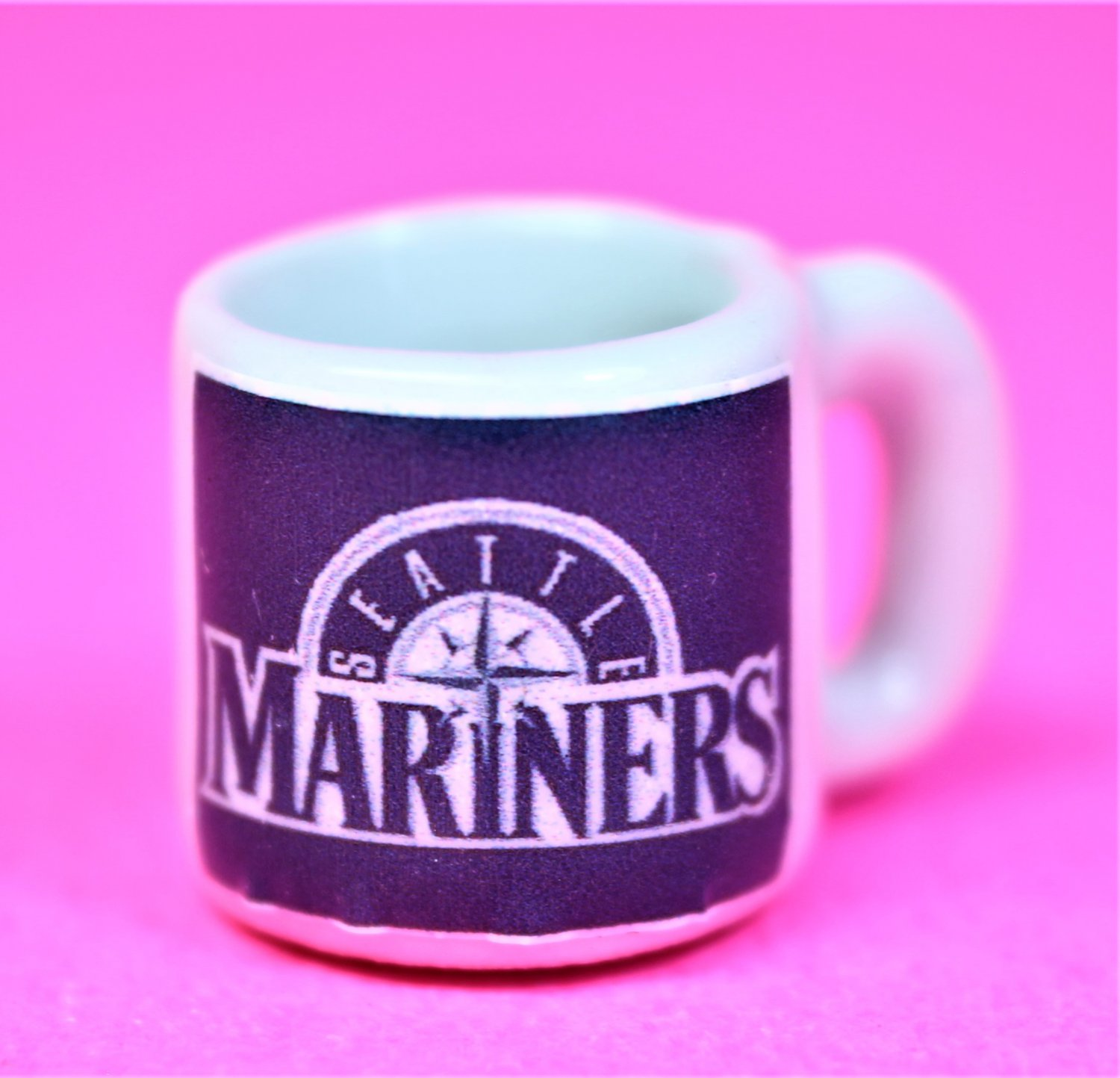 "Dollhouse miniature size 1/12"" scale replica sports Mariners coffee mug"