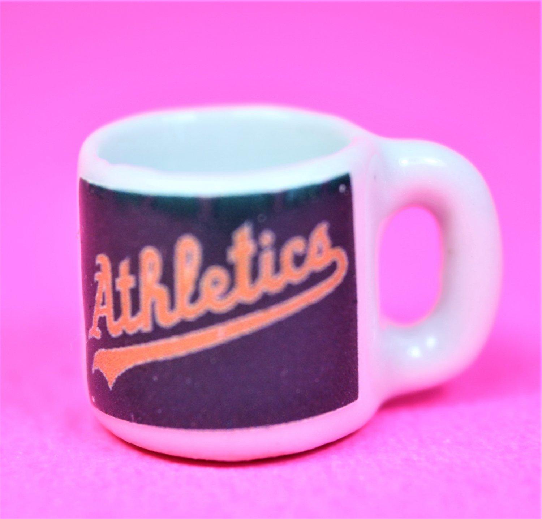 "Dollhouse miniature size 1/12"" scale replica Athletics sports coffee mug"