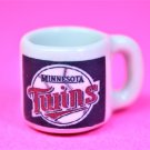 "Dollhouse miniature size 1/12"" scale replica Twins sports coffee mug"
