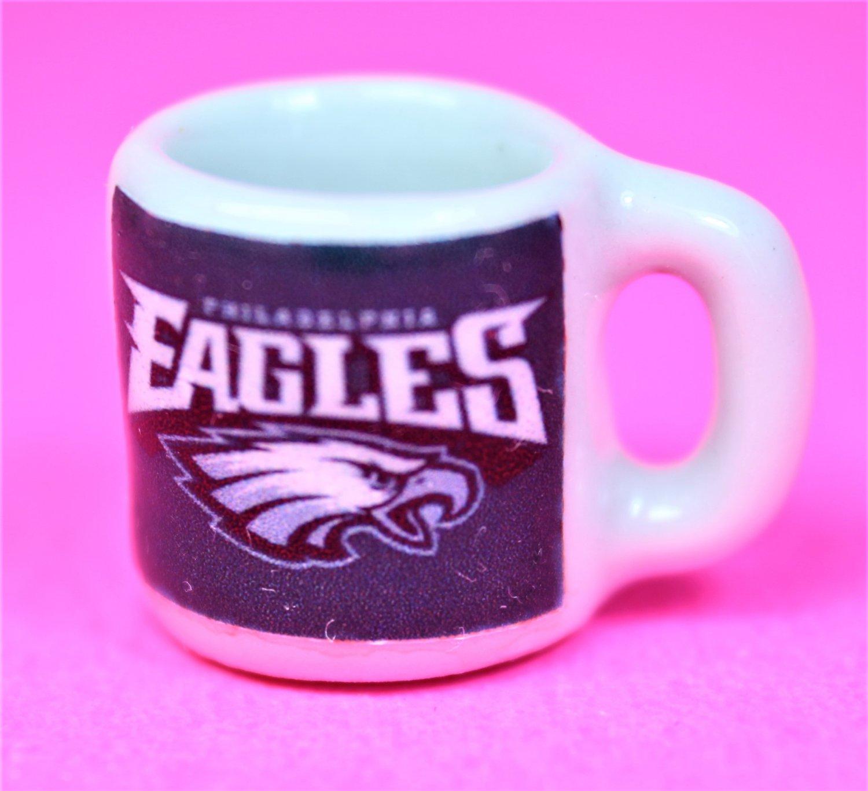 "Dollhouse miniature size 1/12"" scale replica Eagles sports coffee mug"