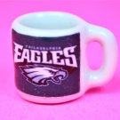 "Dollhouse miniature size 1/12"" scale replica Eagles sports coffee mug"