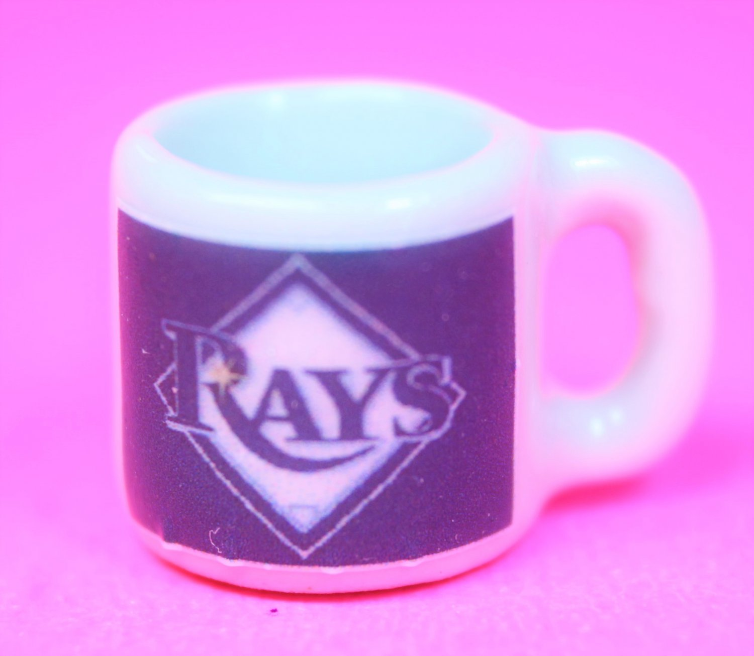 "Dollhouse miniature size 1/12"" scale replica Rays sports coffee mug"