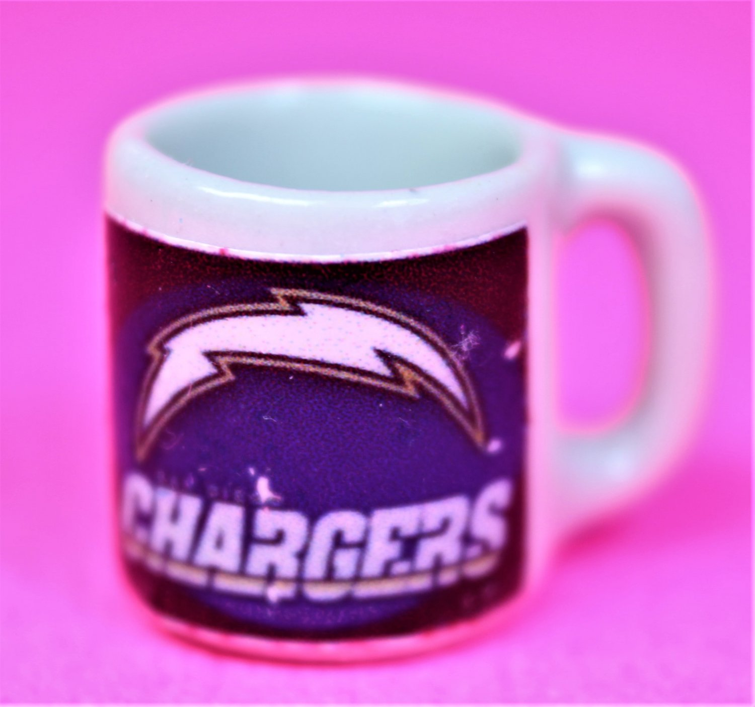 "Dollhouse miniature size 1/12"" scale replica Chargers sports coffee mug"