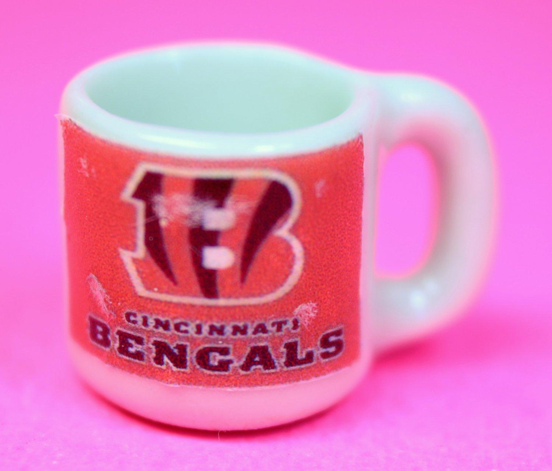 "Dollhouse miniature size 1/12"" scale replica Bengals sports coffee mug"