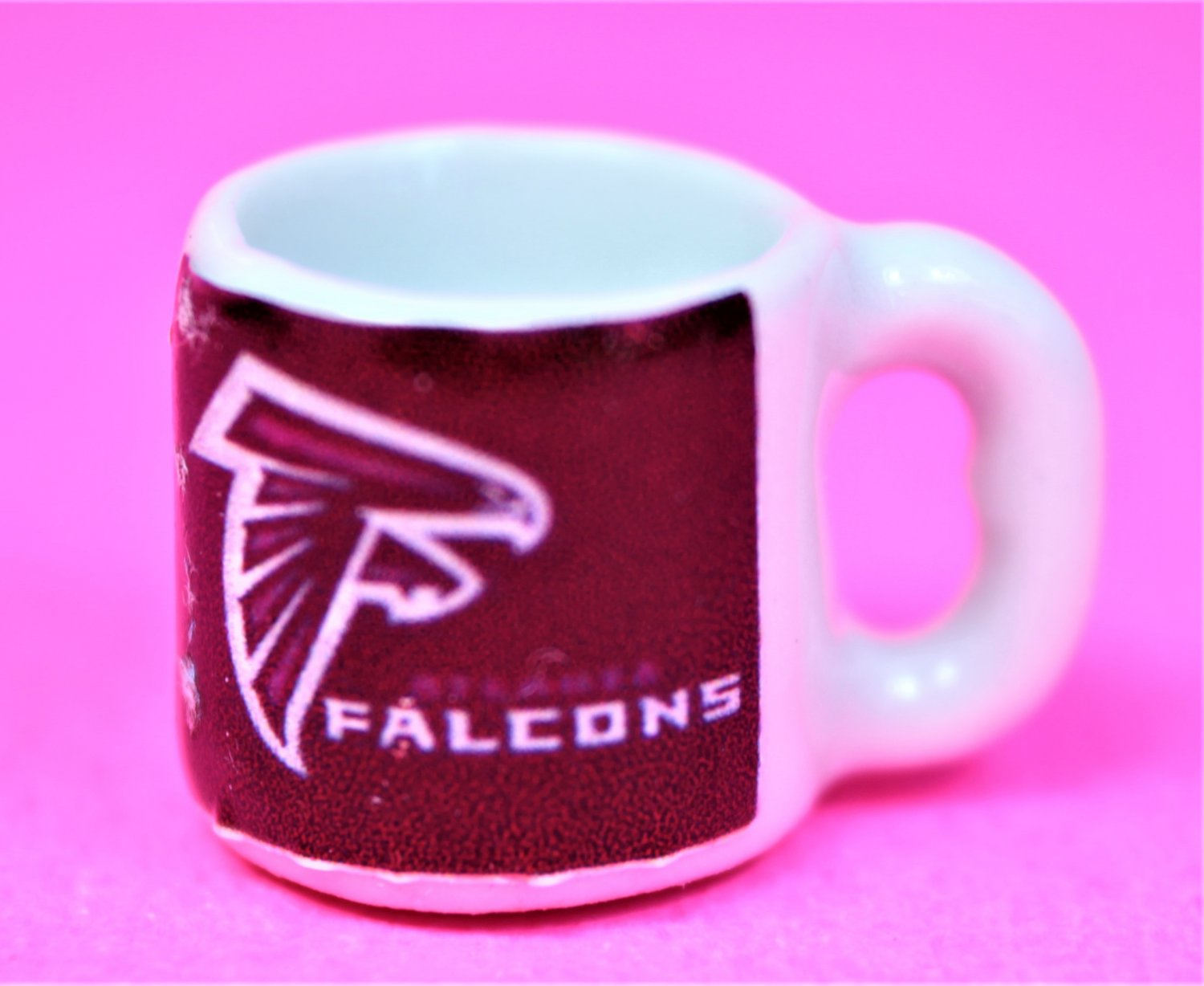 "Dollhouse miniature size 1/12"" scale replica Falcons sports coffee mug"