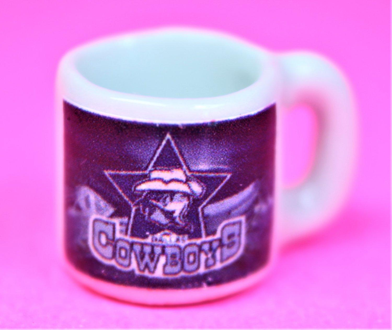 "Dollhouse miniature size 1/12"" scale replica Cowboys sports coffee mug"