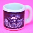 "Dollhouse miniature size 1/12"" scale replica Cowboys sports coffee mug"