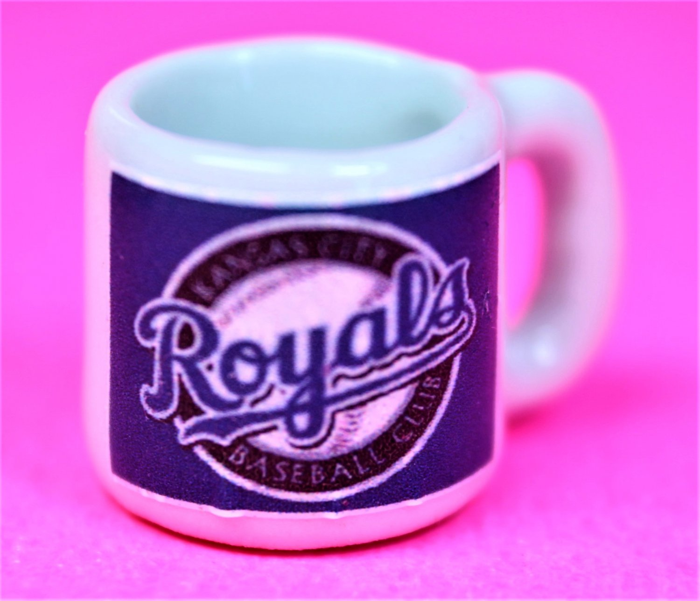 "Dollhouse miniature size 1/12"" scale replica Royals sports coffee mug"
