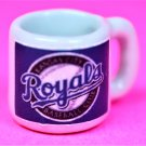 "Dollhouse miniature size 1/12"" scale replica Royals sports coffee mug"