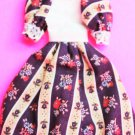 Dollhouse miniature handmade cotton doll's dress  XG101