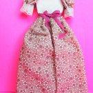 Dollhouse miniature handmade cotton doll's dress  XG102