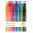 Tombow PLAY COLOR K GCF-013 Water Based Drawing Twin Marker Pens 36-Color Set - Assorted #14691
