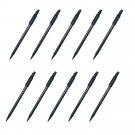 Pentel XSF15-AD Scientific Fude Brush Pen (Fine Point Small) (10pcs) - Black #9647