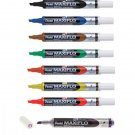 Pentel MAXIFLO MWL6S Assorted Colors Fine Chisel Point Whiteboard Markers (8pcs) - Assorted #12504