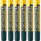 Pentel SMW26 Wet Erase Chisel Point Chalk Marker (6pcs) - Yellow #11495