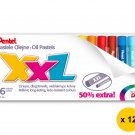 Pentel GHT-16PL 16-Color Oil Pastels (12pcs) - Assorted #10213