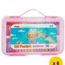 Pentel GHTP-36PE 36-Color Oil Pastels (Pack of 6) - Assorted #10261