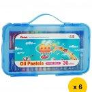 Pentel GHTP-36SE 36-Color Oil Pastels (Pack of 6) - Assorted #10263