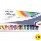 Pentel PHN-25H 25-Color Oil Pastels (12pcs) - Assorted #10225