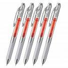 Pentel EnerGel infree BL77TL 0.7mm Retractable Gel Pens (Pack of 5) - Orange Ink #14416