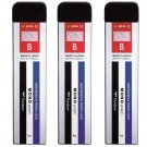 Tombow MONO Graph R3-MG-B 0.3mm B Refill Leads (Pack of 3) - Striped Case #14580
