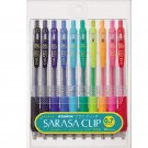 Zebra Sarasa JJB15-10C 0.7mm Gel Ink Pens (10 Colors) - Assorted #7124