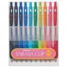 Zebra Sarasa JJH15-10C 0.3mm Gel Ink Pens (10 Colors) - Assorted #7121