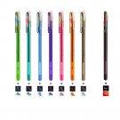 Pentel Hybrid Dual Metallic K110 1.0mm Liquid Gel Roller Pens (Pack of 8) - Assorted #15460