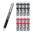 Uni Jetstream 2&1 MSXE3-500-07 Pen + SXR-80-07 Black and Red 0.7mm Refills (8pcs) - Black #15434