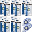 Tombow PiT POWER D PR-IP 8.4mm x 16m Glue Tape Cartridges (10x) + PN-IP Rollers (2x) #15527