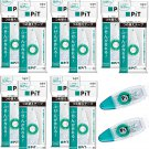 Tombow Pit Tack C PR-CK 8.4mm x 7m Glue Tape Cartridges (10x) + PN-CK Rollers (2x) #15528