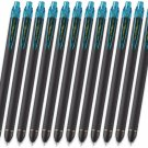 Pentel EnerGel R1 BLN437R1 0.7mm Retractable Gel Roller Pens (Pack of 12) - Turquoise Blue #15817