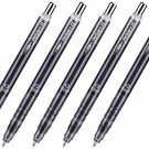Zebra DelGuard Light MAZ84 0.5mm Clear Edition Mechanical Pencils (Pack of 5) - Clear Black #15734
