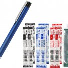 Zebra Lightwrite BA96 0.7mm Ballpoint Pen (with LED Light) + 4C-0.7 Refills (8pcs) - Blue Barrel/ Bl