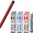 Zebra Lightwrite BA96 0.7mm Ballpoint Pen (with LED Light) + 4C-0.7 Refills (8pcs) - Red Barrel/ Bla