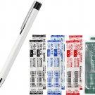 Zebra Lightwrite BA96 0.7mm Ballpoint Pen (with LED Light) + 4C-0.7 Refills (8pcs) - White Barrel/ B