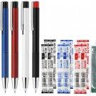 Zebra Lightwrite BA96 0.7mm Ballpoint Pens with LED Light (Pack of 5) + 4C-0.7 Refills (8pcs) - Asso