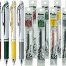 Pentel EnerGel BL77 0.7mm Retractable Liquid Gel Pens (4pcs) + Refills (8pcs) - Assorted #16017